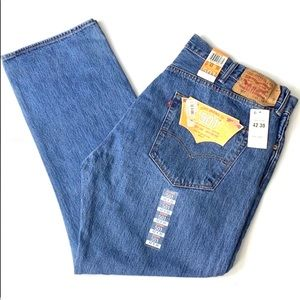Levi's 501 Button Fly Medium Wash Denim Jeans